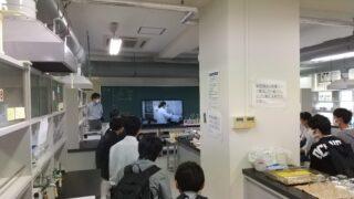 化学実験室の見学