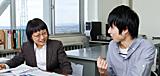 中川朋子教授×4年生 中嶋達也さん(岩手県立岩谷堂高等学校出身)