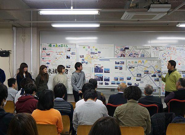 「八木山地区のまちづくり」をテーマとした学生による成果報告展 ~平成29年度太白区との共同講座~
