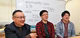 薛 松濤 研究室:薛 松濤 先生 × 4年生 古関 雅人 さん・4年生 高橋 柊葵 さん